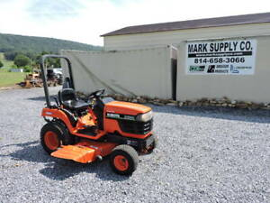2003 Kubota Bx1800 Compact Tractor Belly Mower 4x4 Diesel 540 Pto 3 Point Hitch