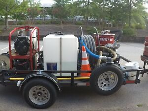 Hot Water Pressure Washer Trailer Mounted Low Hours Excellent Condition