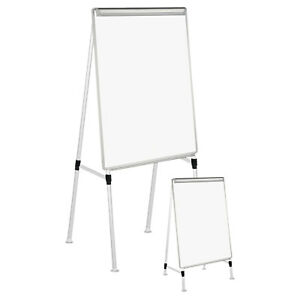 Universal Adjustable White Board Easel 29 X 41 White silver 43033