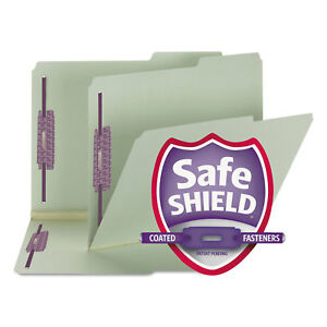 Smead Two Inch Expansion Fastener Folder 2 5 Tab Letter Gray Green 25 box 14920