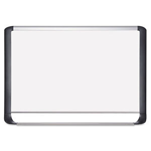 Mastervision Lacquered Steel Magnetic Dry Erase Board 48 X 96 Silver black