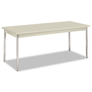 Hon Utility Table Rectangular 72w X 30d X 29h Light Gray Utm3072loloc