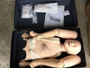 Laerdal Resusci Junior Cpr Full Body Child Manikin Case Emt Nursing Trainer