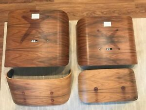 Herman Miller Eames Lounge Chair Ottoman Rosewood Shell Set 2016 Tall Version