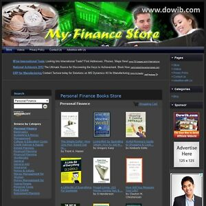 Personal Finance Book Store Turnkey Niche Online Business Website For Sale
