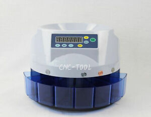 Automatic Coin Counter Sorter Electric Counting Machine For Us Coins 110v New