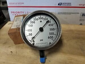 Ashcroft 0 600psi 4 1 2 Inch Face 1 4 Npt Usa
