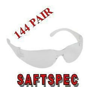 Clear Lens Wrap Around Safety Glasses 144 Pair Lots Saftspec Eyewear