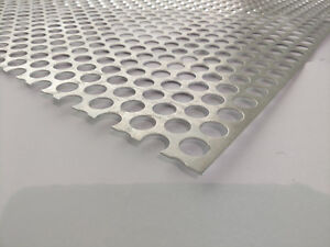 Perforated Metal Aluminum Sheet 062 16 Gauge 12 X 48 3 4 Hole 1 Stagger