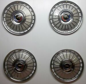 1962 62 Ford Galaxie Fairlane Hubcaps Wheel Covers Lot Of 4 Original 1962