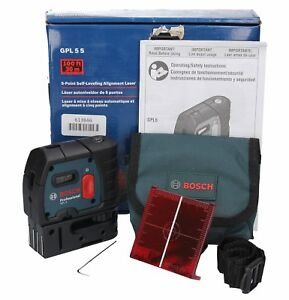 Bosch Gpl 5s 5 point Self leveling Alignment Laser used