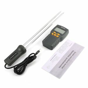 Md7822 Digital Grain Moisture Meter Temperature Thermometer Humidity Tester Iv