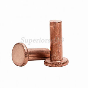 M5 M6 M8 Flat Head Knurling Copper Rivets Solid Brass Rivet Fasteners