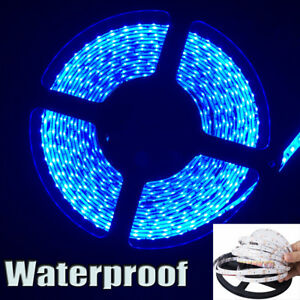 12v Waterproof Led Strip Light 5m 600leds For Boat Truck Car Suv Rv Atv Utv Blue