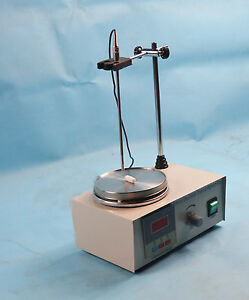 Used85 2magnetic Stirrer With Hot Plate Digital Heating Mixer 110v Free Shipping