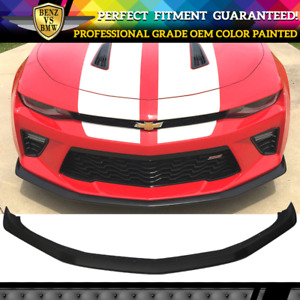 Fits 16 18 Chevy Camaro Ss V8 Oe Front Bumper Spoiler Lip Oem Painted Color