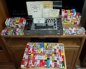 Mercury 1200 Mutual Conductance Tube Tester 140 Tubes Vintage Rare W Manual