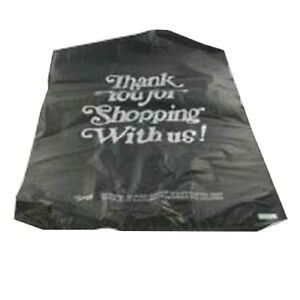 Primepak Thank You Plastic Grocery Tote Bag Black 1 6 Bbl 400 case