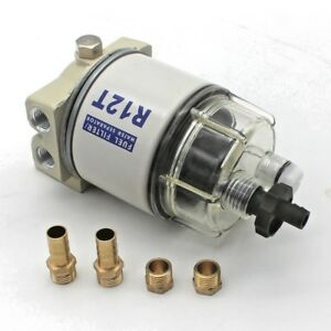 New Fuel Filter Water Separator For R12t Marine Spin On Housing 120at
