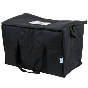 2 Bags 23 X 13 X 15 Black Insulated Nylon Food Delivery Bag Pan Carrier
