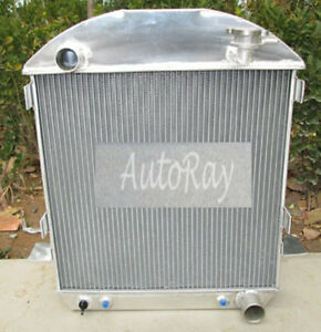 Aluminum Radiator For Chevy Model T Bucket Ford Grill Shells 24 27 Hotrod 25 26