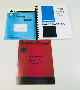 International Farmall Super A Tractor Service Operators Parts Manual Catalog Set