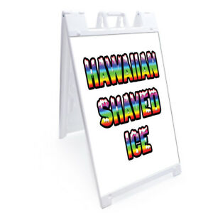 A frame Hawaiian Shaved Ice Sign Double Sided Graphics 24 X 36 Heavy Duty