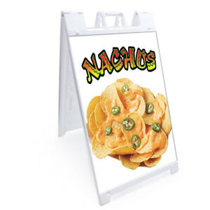 A frame Nachos 1 Sign With Graphics On Each Side 24 X 36 Print Size