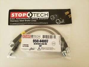Stoptech Stainless Steel Braided Front Brake Lines Kit Toyota Tundra 00 06 New