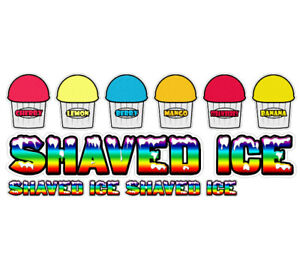 Shaved Ice Ii 7 Concession Decals 2 Free Cart Trailer Stand Sticker