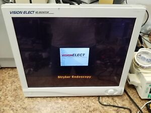 Stryker 21 Vision Elect Display Monitor Endoscopy 240 030 930 Pictured Working