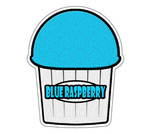 Blue Raspberry Flavor Italian Ice 36 Decal Shaved Cart Trailer Stand Sticker
