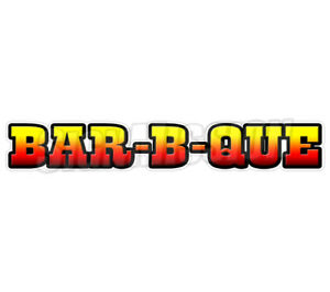 Bar b que Concession 36 Decal Bbq Barbeque Sign Smoker Pit Cart Trailer Stand