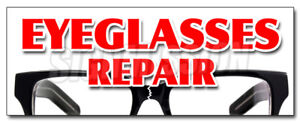 48 Eyeglass Repair Decal Sticker Optometrist Eye Exam Dr Doctor Examination