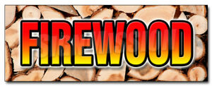 48 Firewood Decal Sticker Fire Wood Split Hickory Cord Delivered Stacked