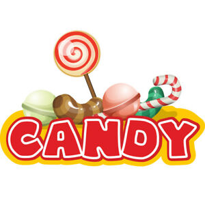 Candy Bars 36 Concession Decal Sign Cart Trailer Stand Sticker Equipment