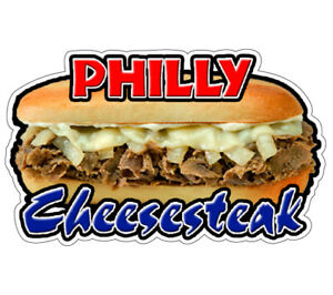 Philly Cheese Steak Concession 36 Decal Restaurant Sign Cart Trailer Sticker