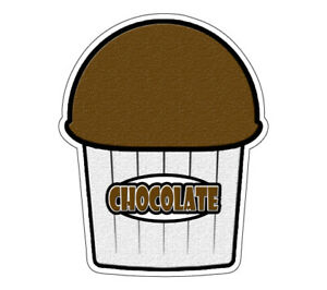 Chocolate Flavor Italian Ice 36 Decal Shaved Ice Sign Cart Trailer Sticker