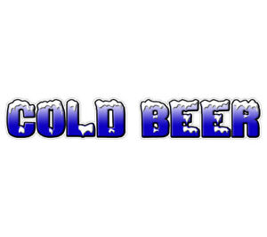 Cold Beer Concession 36 Decal Ice Drink Vendor Signs Cart Trailer Sticker