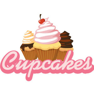 Cupcakes 36 Concession Decal Sign Cart Trailer Stand Sticker Equipment