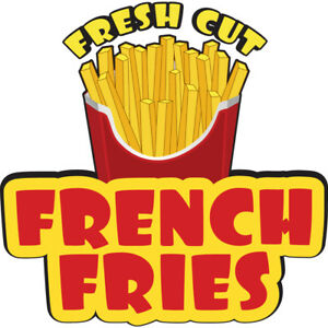 French Fries 36 Concession Decal Sign Cart Trailer Stand Sticker Equipment
