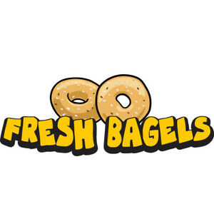 Fresh Bagels 36 Concession Decal Sign Cart Trailer Stand Sticker Equipment