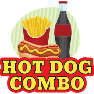 Hot Dog Combo 36 Concession Decal Sign Cart Trailer Stand Sticker Equipment