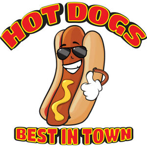 Hot Dogs All Beef 36 Concession Decal Sign Cart Trailer Stand Sticker Equipment