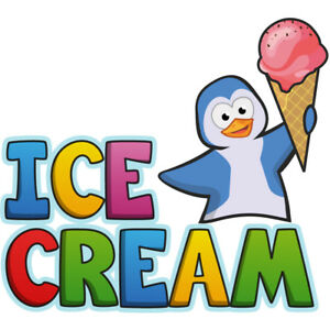 Ice Cream 1 36 Concession Decal Sign Cart Trailer Stand Sticker Equipment