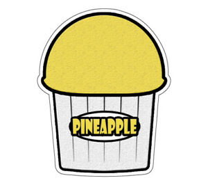 Pineapple Flavor Italian Ice 36 Decal Shaved Ice Sign Cart Trailer Sticker