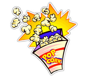 Popcorn I Concession 36 Decal Vendor Cart Trailer Stand Sticker Equipment