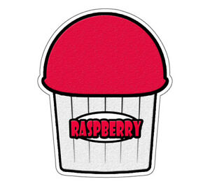 Raspberry Flavor Italian Ice 36 Decal Shaved Ice Sign Cart Trailer Sticker