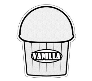 Vanilla Flavor Italian Ice 36 Decal Shaved Ice Cart Trailer Stand Equipment