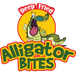 Alligator Bites 48 Concession Decal Sign Cart Trailer Stand Sticker Equipment